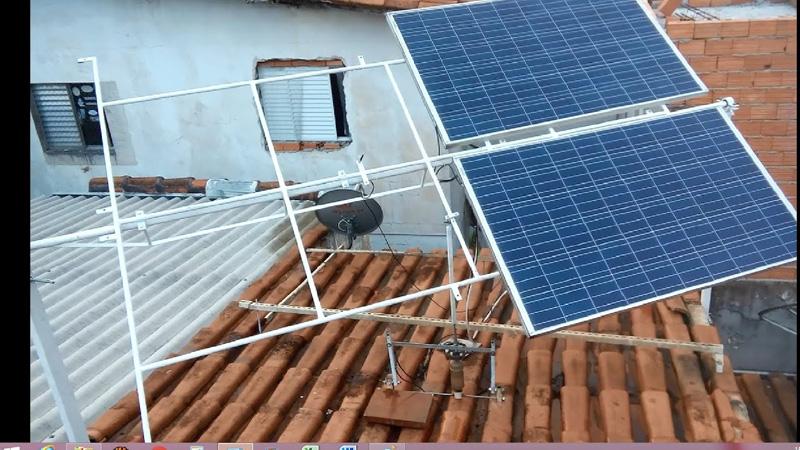 Seguidor solar caseiro